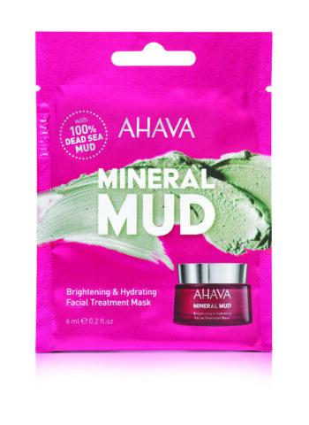 mineral mud brightening en hydrating facial treatment mask single use